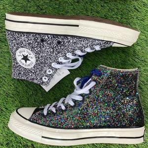 NWT Converse x Jw Anderson glitter gutter shoe!